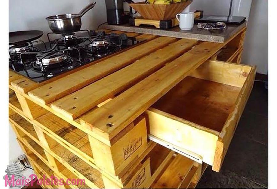 Móveis de Cozinha com Pallets