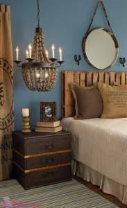 Cabeceira de cama feita de Pallet