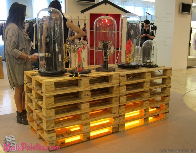 9 Exemplos De Paletes Como Expositor Nas Lojas