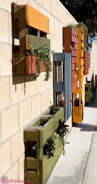 jardim vertical pallet:jardim vertical com pallets (1)Móveis de Paletes