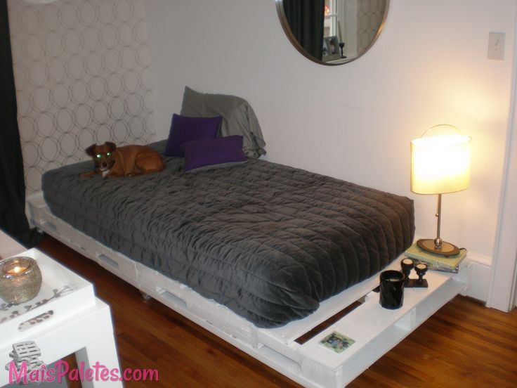 9 ideias de camas de solteiro com paletes for Bases de cama hechas con tarimas