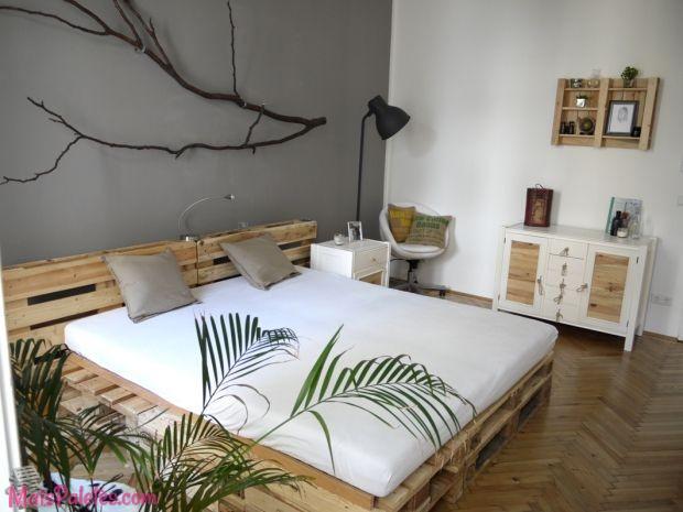 12 camas e as suas cabeceiras todas feitas com paletes de. Black Bedroom Furniture Sets. Home Design Ideas