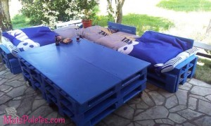 Espaços Lounge com pallets
