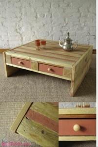 Mesa e Gavetas com paletes