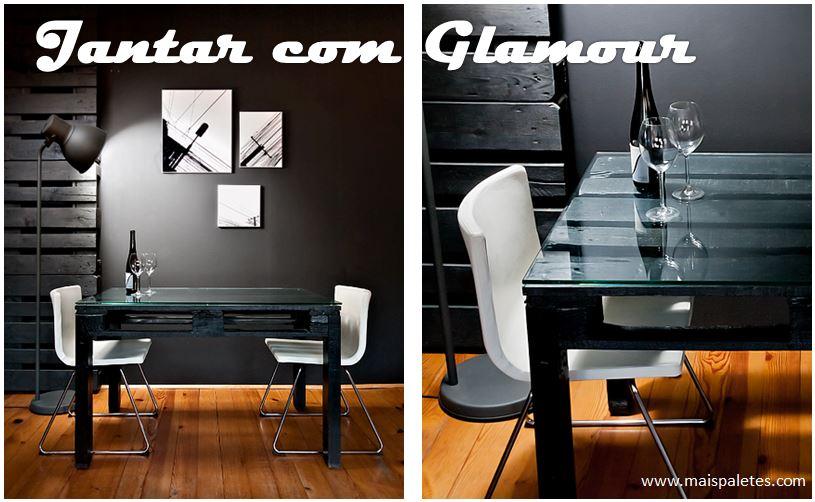 Mesa de Jantar Simples e Elegante, com uma palete