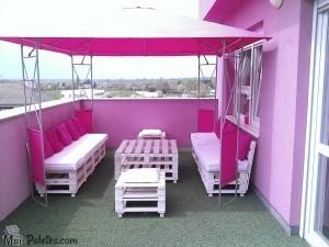Lounge com paletes