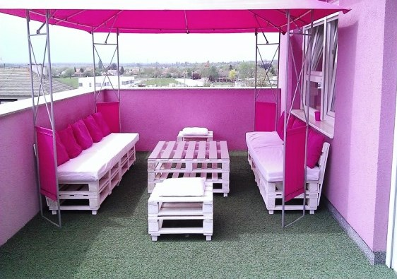 Terraços Lounge com pallets