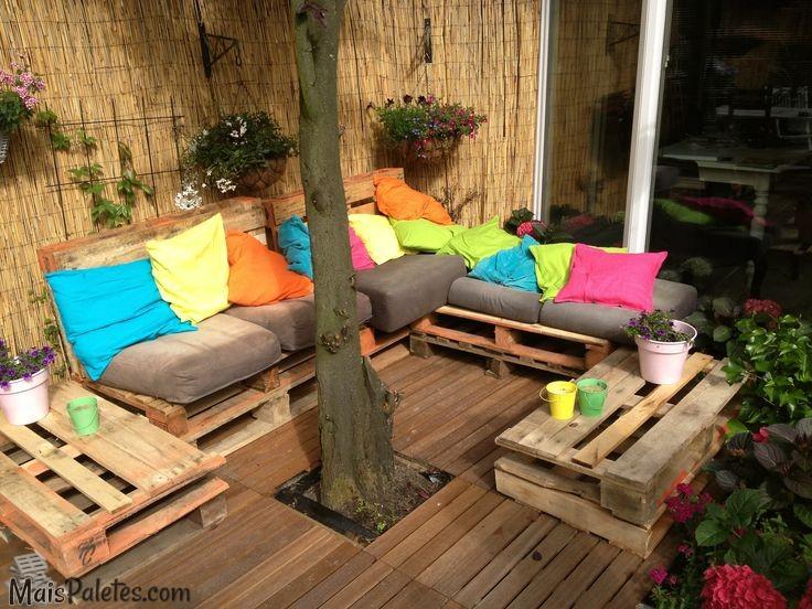 Espa o jardim m veis de paletes for Sofas para jardines exteriores