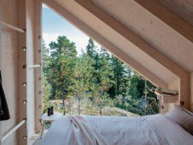 Dez quartos aconchegantes em cabines imersos na natureza