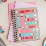 Como decorar notebooks com fita adesiva e impressao digital