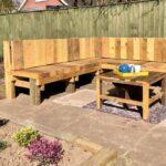 DIY garden bench seating