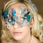 Impressionantes designs de joias de borboleta e organza de seda