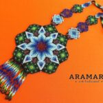 Joias e acessorios coloridos Huichol Beadwork por Aramara