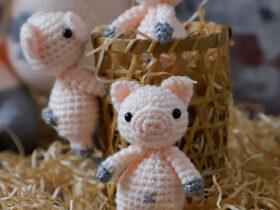Leitao Amigurumi Padrao de Croche Gratis • Paixao Artesanal