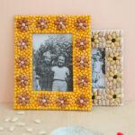 Molduras em mosaico de feijao Charlotte artesanal