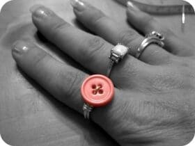 Tutorial de anel de botao de envoltorio de arame