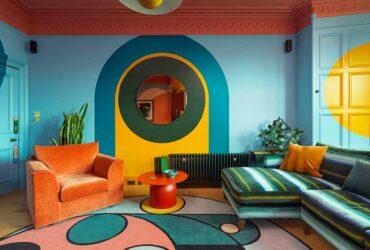 Um apartamento em Edimburgo que e um caleidoscopio de cores