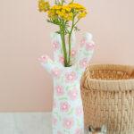 Vaso de mao Mache de papel reciclado