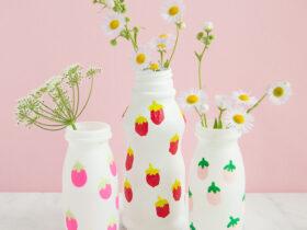 Vasos de arte para impressao digital reciclados Charlotte artesanal