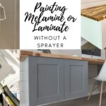 painting melamine or laminate cabinets without a sprayer