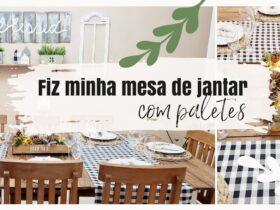 Como fazer uma mesa de jantar / madeira de paletes / Minha sala de jantar estilo fazenda