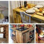 Inspire se com + 50 ideias lindas de móvel de palete para cozinha - Só Ideias Legais
