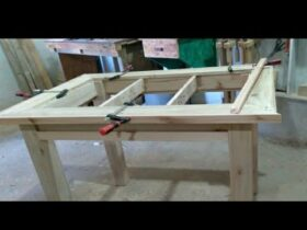 Joinery Making Wood Pallet Dining Table // Marcenaria para INICIANTES Fazendo MESA DE Palletes
