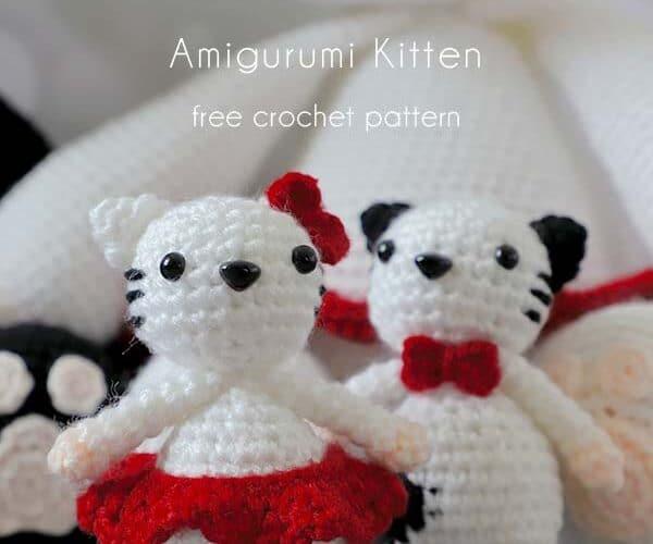 Padrao de croche de gatinho 3 Amigurumi gratis • Paixao