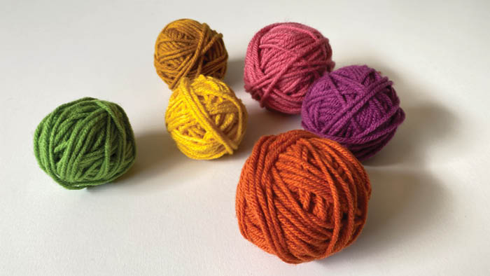 Rolled Up Yarn Balls