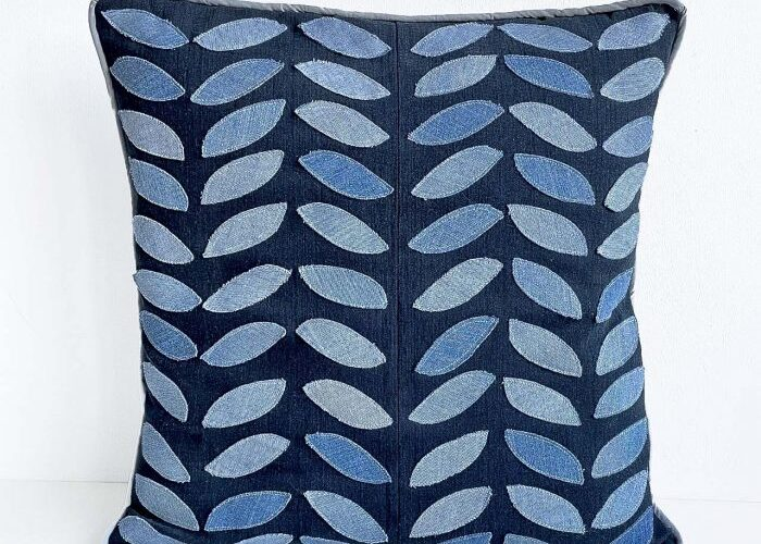 leaf pillow cover cushion cover vickymyerscreations