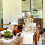 Decoracao de Halloween com esqueletos inspirada em Faca voce