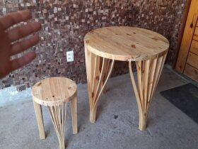 Mesa Moderna Com Madeira De pallet = Design incrível para marcenaria